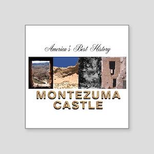 """ABH Montezuma Castle Square Sticker 3"""" x 3"""""""