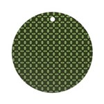 Geranium Leaves Ornament (Round)