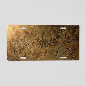 24K Gold Leaf Aluminum License Plate