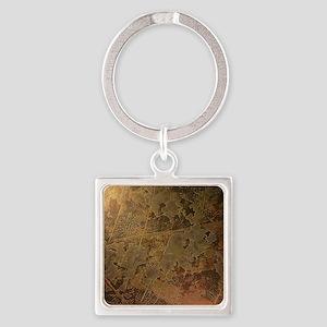 24K Gold Leaf Keychains