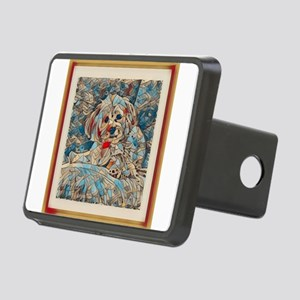 Copper Mosaic Image Rectangular Hitch Cover