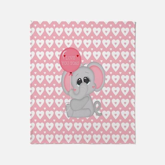 Funny I love elephants Throw Blanket