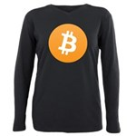 bitcoinLogo10000 Plus Size Long Sleeve Tee