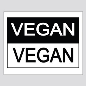 Vegan Black And White Posters Small Poster