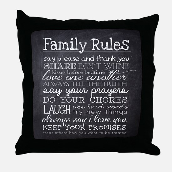 Cute Family Throw Pillow