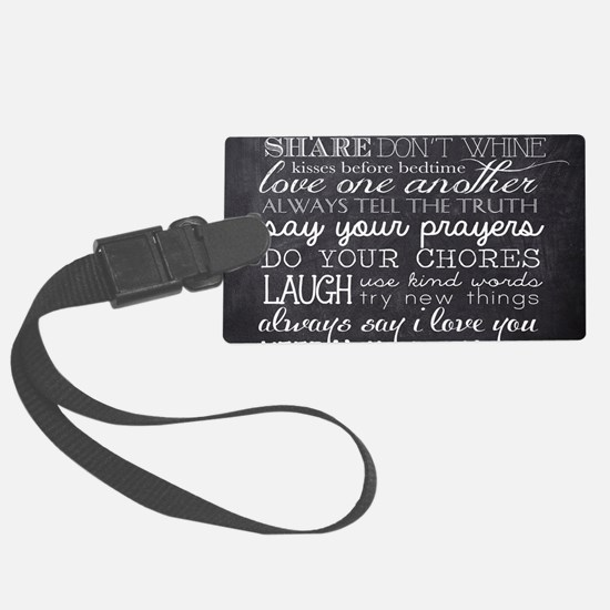 Cute Family Large Luggage Tag