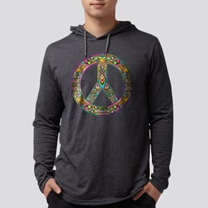 Peace Symbol Psychedelic Art D Long Sleeve T-Shirt