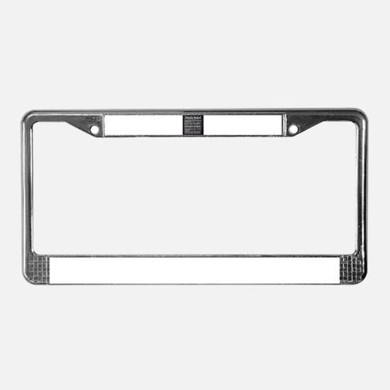 Family Rules License Plate Frame