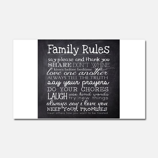 Family Rules Car Magnet 20 x 12