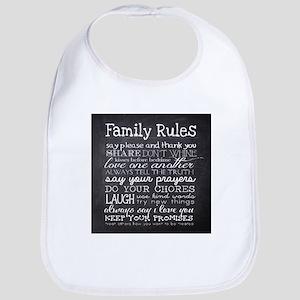 Family Rules Bib