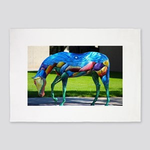 Painted Horse 2 5'x7'Area Rug
