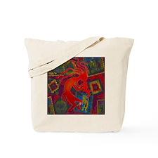 Red Kokopelli Tote Bag