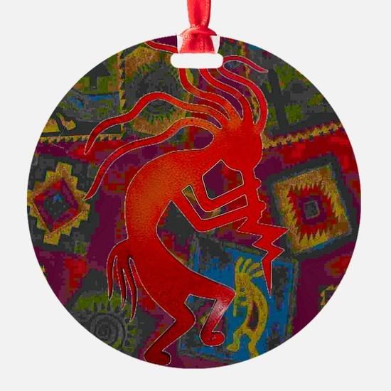 Red Kokopelli Ornament