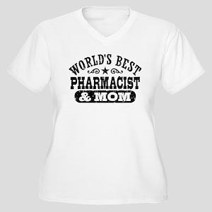Pharmacist and Mo Women's Plus Size V-Neck T-Shirt