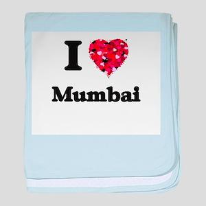 I love Mumbai India baby blanket