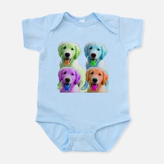 Golden Retriever Warhol Infant Bodysuit
