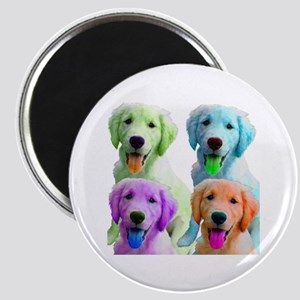 Golden Retriever Warhol Magnet