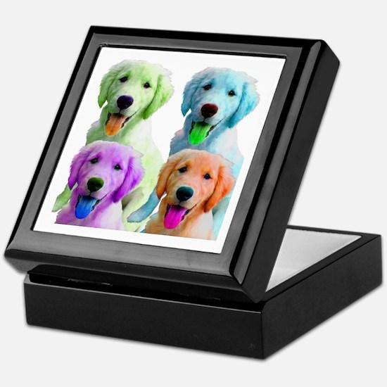 Golden Retriever Warhol Keepsake Box