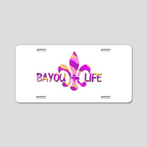 BAYOU LIFE Tiger Stripe Cam Aluminum License Plate