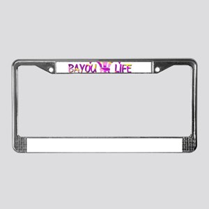 BAYOU LIFE Tiger Stripe Camo License Plate Frame