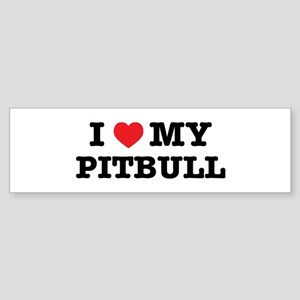 I Heart My Pitbull Bumper Sticker