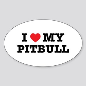 I Heart My Pitbull Sticker