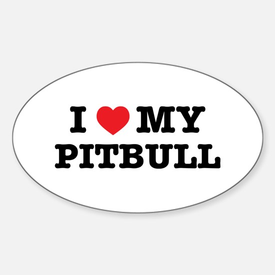 I Heart My Pitbull Decal