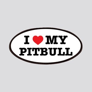 I Heart My Pitbull Patch