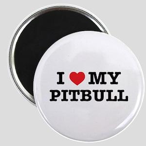 I Heart My Pitbull Magnets