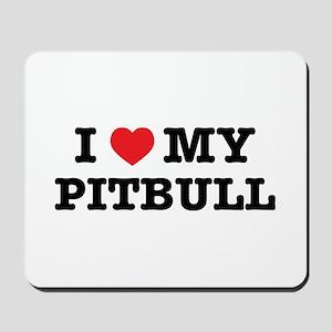 I Heart My Pitbull Mousepad