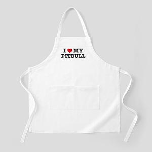 I Heart My Pitbull Apron