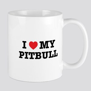 I Heart My Pitbull Mugs