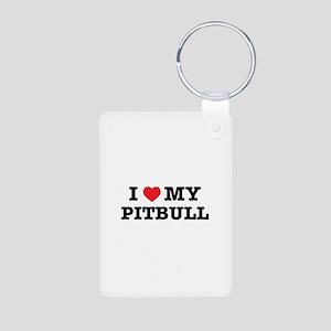 I Heart My Pitbull Keychains