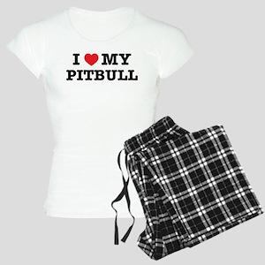 I Heart My Pitbull pajamas
