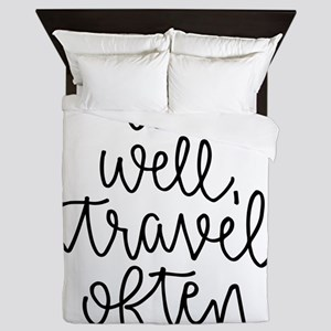 Eat Well, Travel Often Queen Duvet