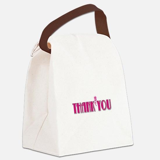 chislpnkthkyou-whitrec.png Canvas Lunch Bag