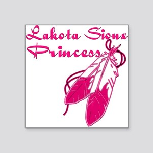 "Lakota Sioux Princess Square Sticker 3"" x 3"""