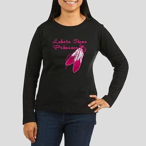 Lakota Sioux Princess Women's Long Sleeve Dark T-S