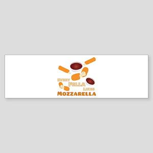 Likes Mozzarella Bumper Sticker