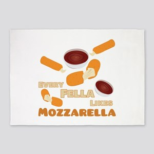 Likes Mozzarella 5'x7'Area Rug