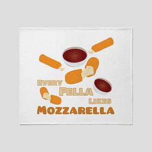 Likes Mozzarella Throw Blanket