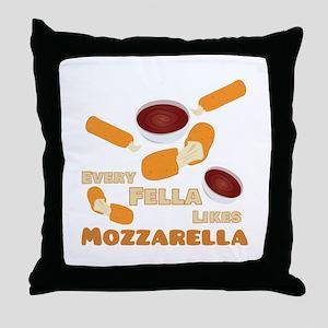 Likes Mozzarella Throw Pillow
