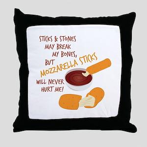 Mozzarella Sticks Throw Pillow