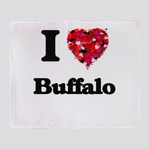 I love Buffalo New York Throw Blanket