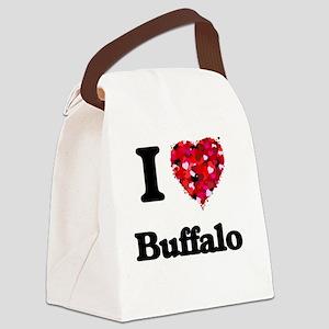 I love Buffalo New York Canvas Lunch Bag