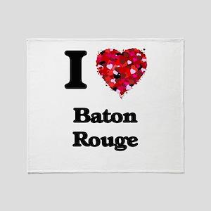 I love Baton Rouge Louisiana Throw Blanket