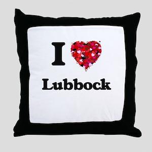 I love Lubbock Texas Throw Pillow