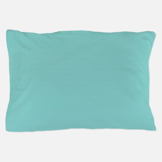 solid blue background with small patte Pillow Case