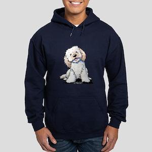 Smiling Doodle Puppy Hoodie (dark)