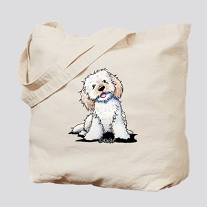 Smiling Doodle Puppy Tote Bag